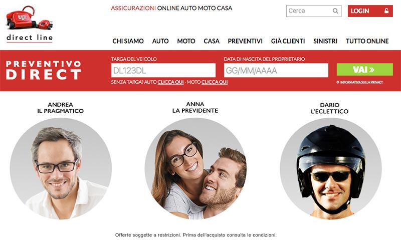 Assicurazione Direct Line Online