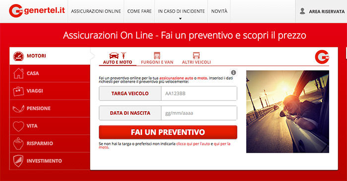 Assicurazione Genertel online
