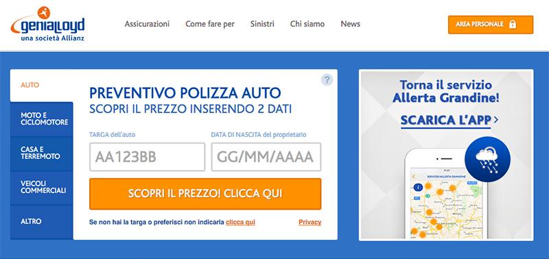 Assicurazione Genialloyd Online