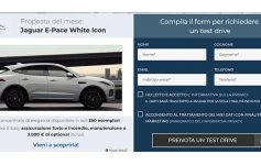 Jaguar E-Pace White Icon Prenotazione Test Drive